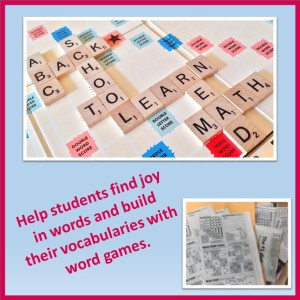 Use word games to fill a few minutes at the end of class.