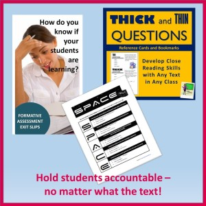 hold students accountable--no matter what the text